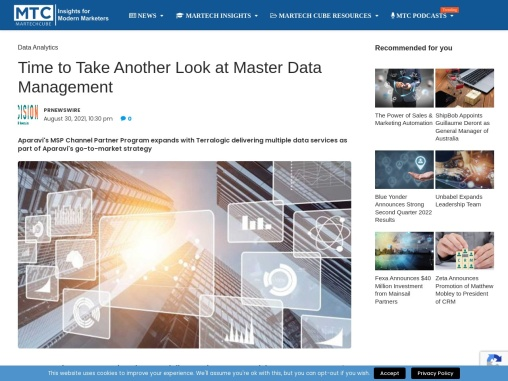 Time to Take Another Look at Master Data Management