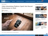 Video Advertising Platform SpotX hits Record Performance In 2020