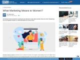 What Marketing Means to Women?