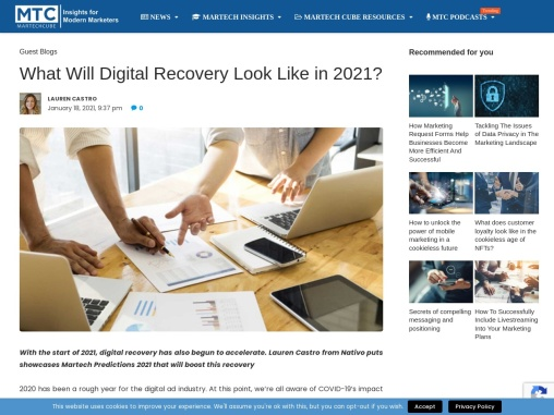 What Will Digital Recovery Look Like in 2021?