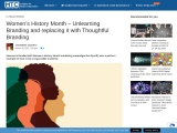 Women's History Month – Unlearning Branding and replacing it with Thoughtful Branding