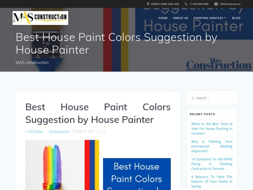 Best House Paint Colors Suggestion by House Painter Toronto