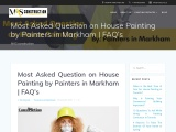 Most Asked Question on House Painting by Painters in Markham