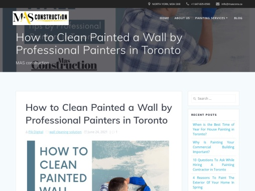 How to Clean Painted Wall by Professional Painters in Toronto