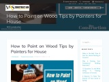 How to Paint on Wood Tips and Techniques by Painters for House