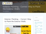 Exterior Painting – Correct Way to Paint the Exterior Walls