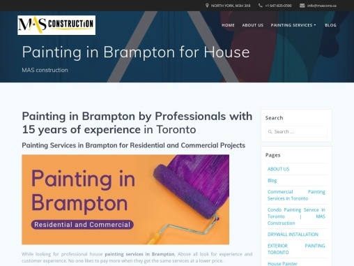 The Best Painters for Painting in Brampton: Residential and Commercial
