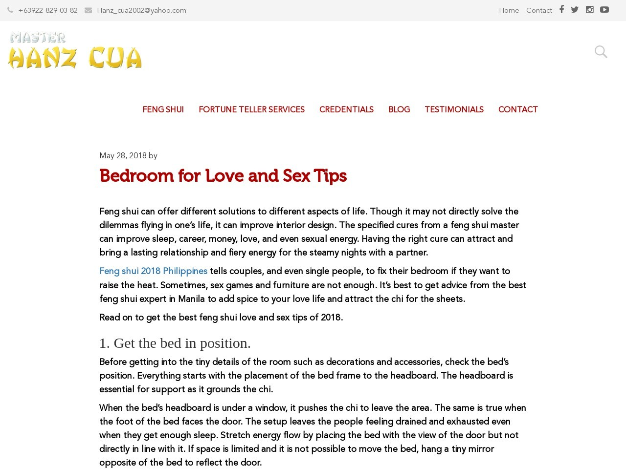 Bedroom for Love and Sex Tips