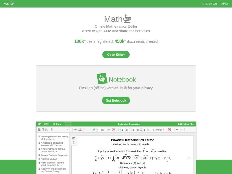 Mathcha | 数式のオンラインエディタ