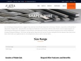 Matta Drawing Works Shaped Wires Manufacturer