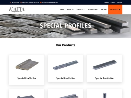 Matta Drawing Works Special Profile Bar