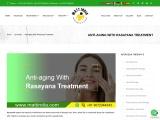 Anti-aging With Rasayana Treatment