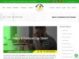 Ways to Reduce Eye Strain – Mattindia