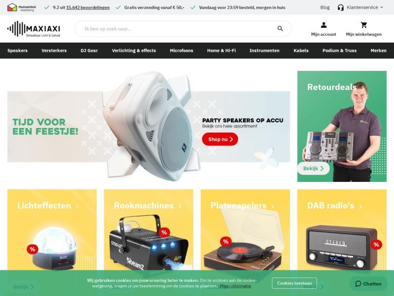 MaxiAxi.com screenshot