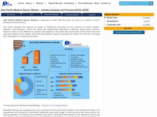Asia Pacific Medical Sensor Market