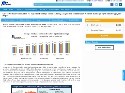 Europe Modular Construction for High Rise Buildings Market