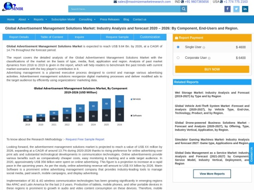 Global Advertisement Management Solutions Market: Industry Analysis and forecast 2020