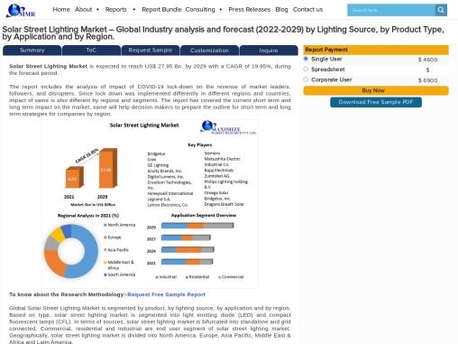 Solar Street Lighting Market – Industry analysis and forecast (2019-2026)