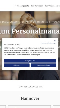 Vorschau der mobilen Webseite www.maximumpersonal.de, Maximum Personalmanagement GmbH