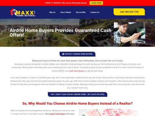 Airdrie Home Buying Company | Sell House Privately | Maxx Cash Home Buyers