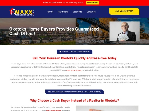 Okotoks Home Buying Company | Sell House Privately | Maxx Cash Home Buyers