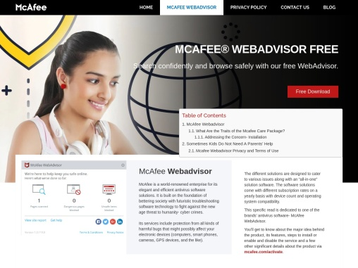 McAfee Webadvisor – How to Disable McAfee