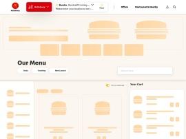 Online store Mc Donalds