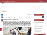 How MCVO Talent Outsourcing Services Handle Confidentiality and Privacy