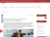 How to Improve Customer Service and Experience: Tips for Businesses | MCVO