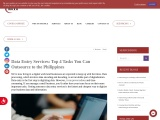 Data Entry Services: Top 4 Tasks You Can Outsource to the Philippines
