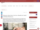 Outsource Data Entry Services: Benefits for Small to Medium Businesses | MCVO Talent Outsourcing