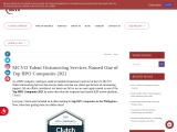 MCVO Talent Outsourcing Services Named One of Top BPO Companies 2021 | MCVO Talent Outsourcing