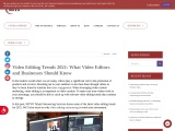Video Editing Trends 2021: What Video Editors and Businesses Should Know   MCVO Talent Outsourcing S