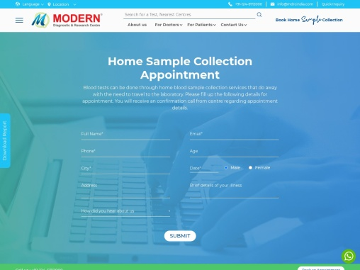 Home Blood Test Sample Collection in Gurgaon | MDRC India