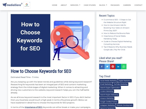 How to select the keywords for SEO Campaign