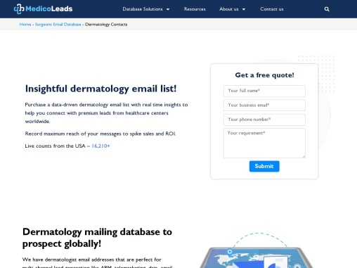 Dermatologist Email List | List of Dermatologists in USA