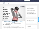 Most Common Queries About Back Pain – Dr. Jwalant S. Mehta