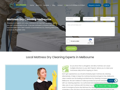 Mattress Dry Cleaning Services Melbourne