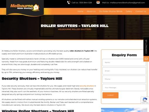 Electric ShuttersTaylors Hill   ShuttersTaylors Hill