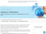 Verify postal address online – Melissa US
