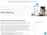 Data Deduplication – Contact Data Quality Services