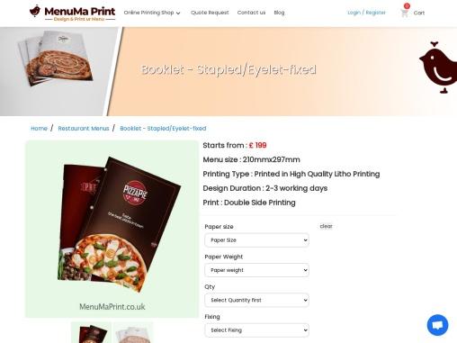 Cheap Printing Services | Booklet Printing | MenuMa Print