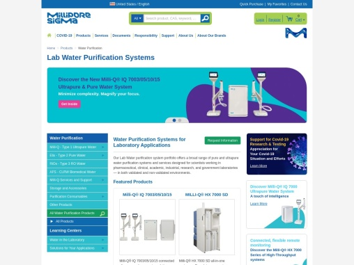 Millipore Water Purification System