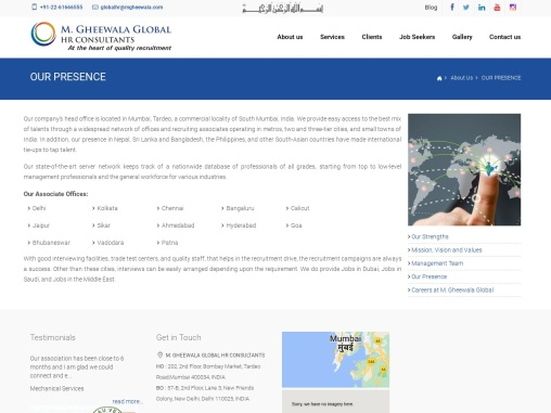 Our Presence   M. Gheewala Global HR Consultants   Human Resources Consultants for the Middle East a