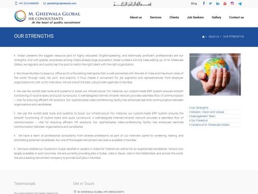 Our Strengths   M Gheewala Global HR Consultants