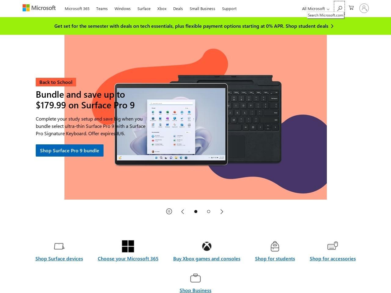 Microsoft Canada Coupons screenshot