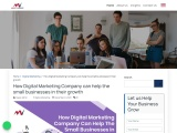 How Digital Marketing Company can help the small businesses in their growth