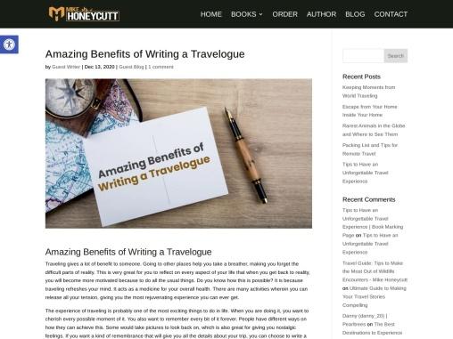 Amazing Benefits of Writing a Travelogue