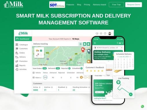 Milk online delivery app development