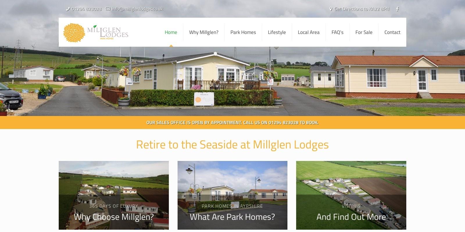 Preview of https://www.millglenlodges.co.uk